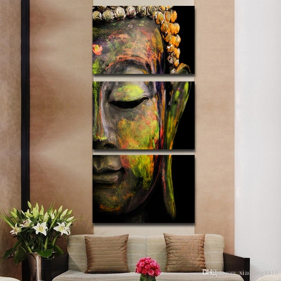 Buddha Oil Painting Wall Art Paintings Picture Paiting Canvas Paints In Most Up To Date 3 Piece Canvas Wall Art (View 8 of 15)