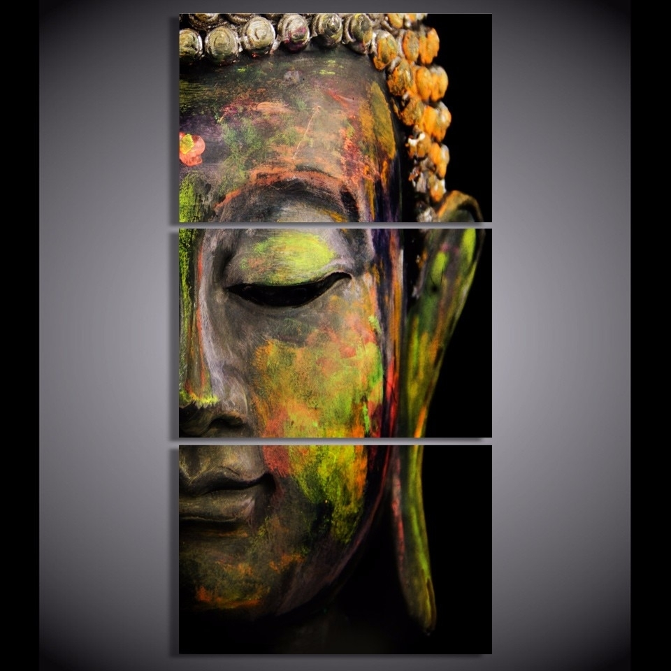 Buddha Oil Painting Wall Art Paintings Picture Paiting Canvas Paints With Regard To Recent Wall Art Paintings (View 7 of 20)