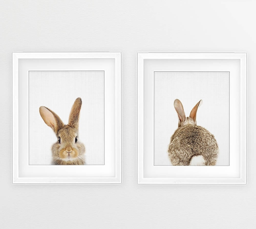 Bunny Print Wall Art | Easter Decor Ideas | Popsugar Moms Photo 4 Throughout Most Up To Date Bunny Wall Art (View 7 of 20)