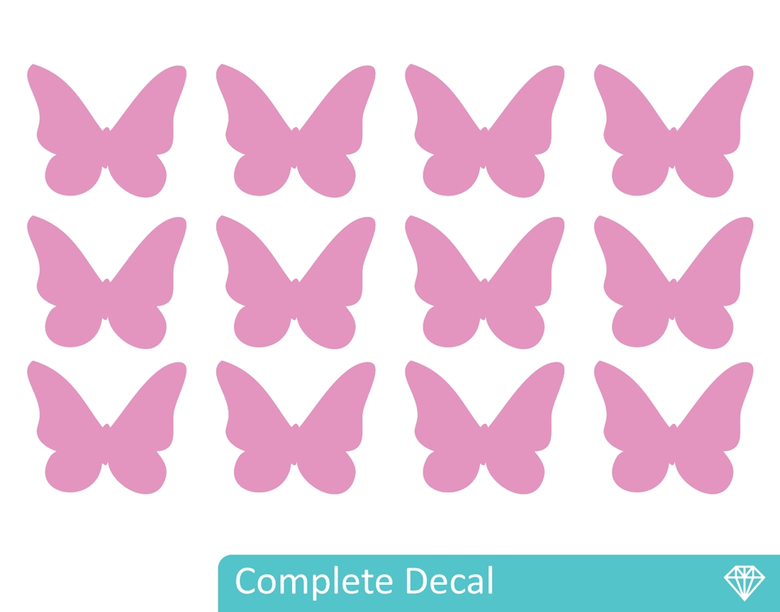 Butterflies – Your Decal Shop | Nz Designer Wall Art Decals | Wall In Most Popular Butterfly Wall Art (View 8 of 15)