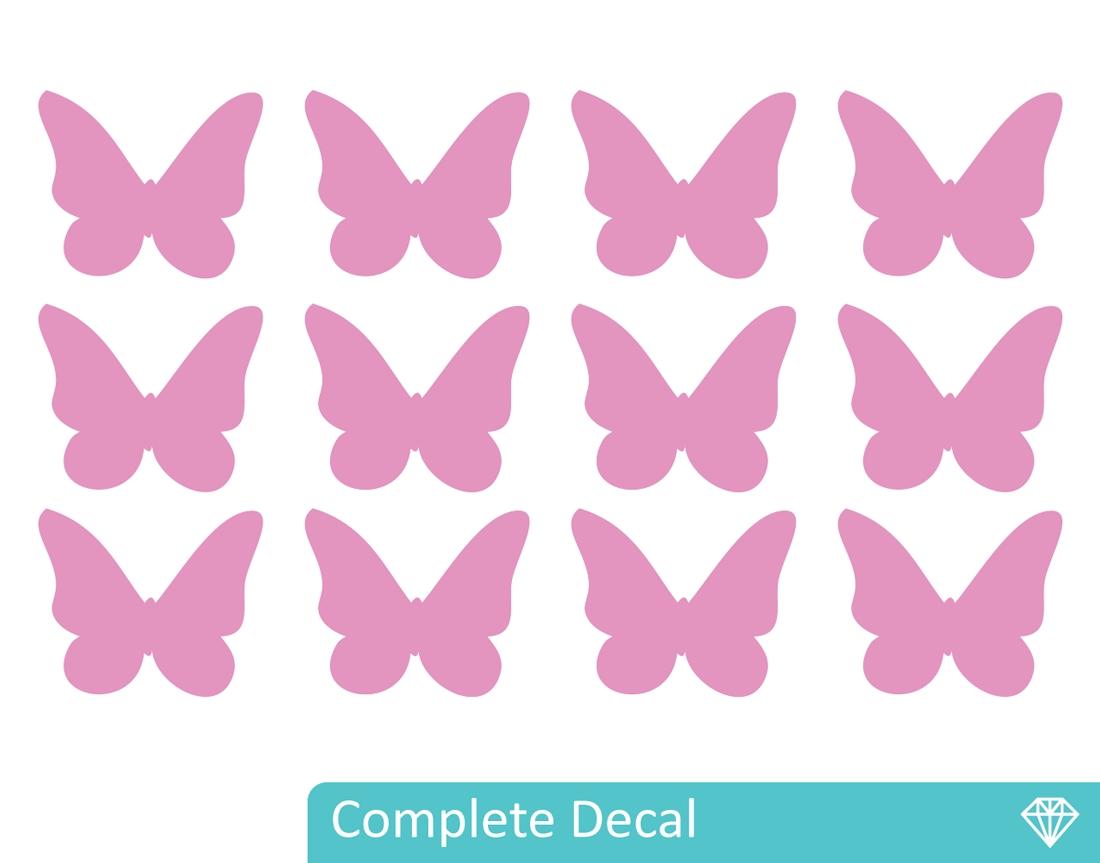 Butterflies – Your Decal Shop | Nz Designer Wall Art Decals | Wall In Most Popular Butterfly Wall Art (Gallery 8 of 15)