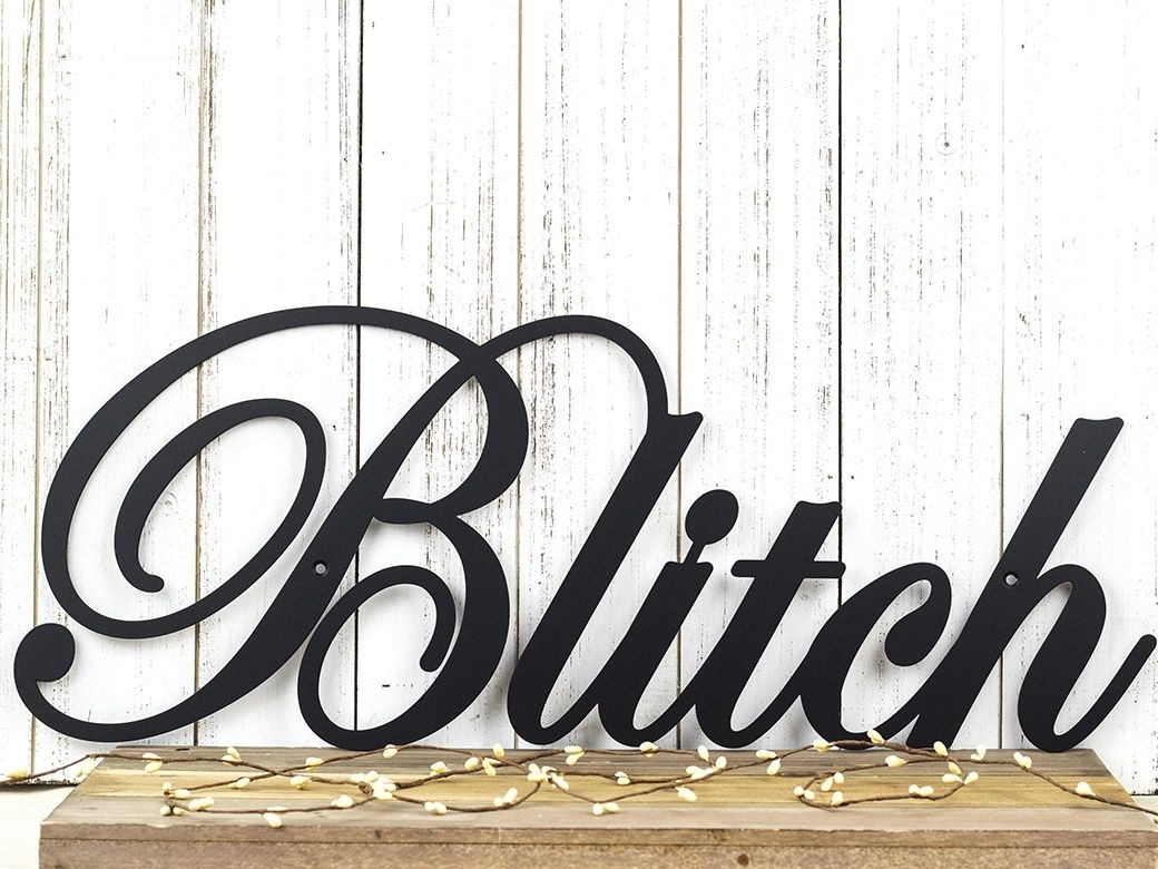 Buy A Hand Crafted Family Name Metal Sign | Family Last Name Sign Pertaining To Newest Family Name Wall Art (View 15 of 20)