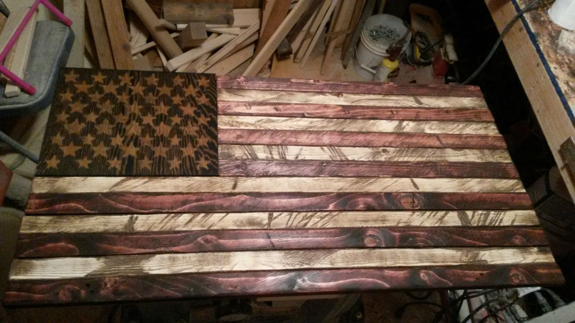 Buy A Handmade Rustic Distressed Wood American Flag, Made To Order Regarding Current Rustic American Flag Wall Art (View 5 of 20)