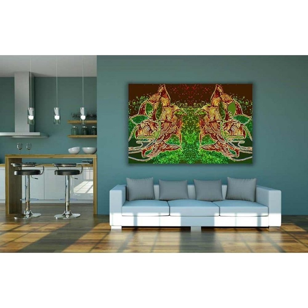 Buy Abstract Indian Style Canvas Wall Decor With Regard To Latest Cheap Large Canvas Wall Art (View 10 of 20)