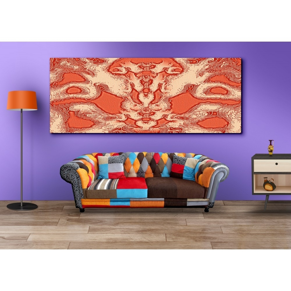 Buy Abstract Orange Wall Art For Home Decor Canvas Painting With Most Recent Orange Wall Art (Gallery 17 of 20)