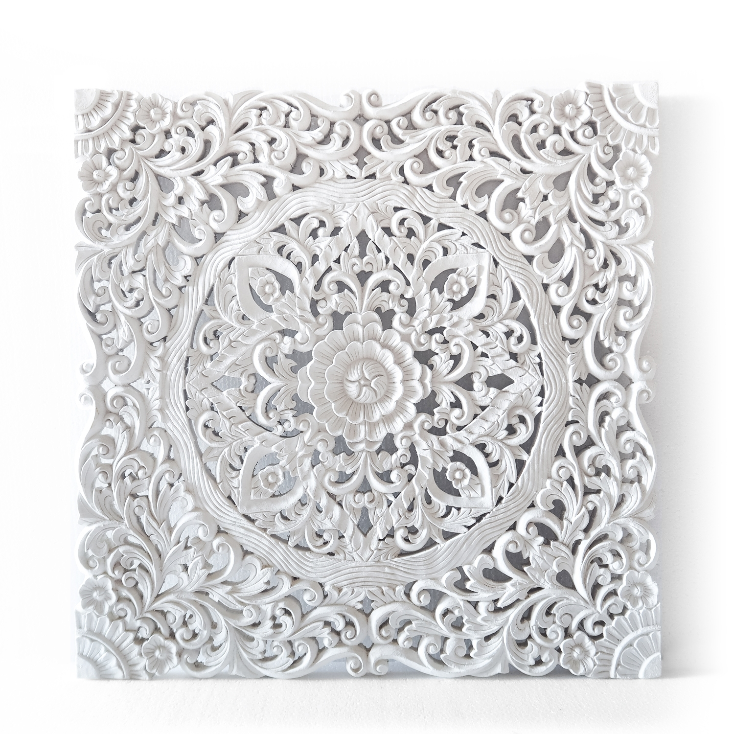 Buy Balinese Authentic Wall Hanging Panel Online Throughout Most Current White Wall Art (View 4 of 20)