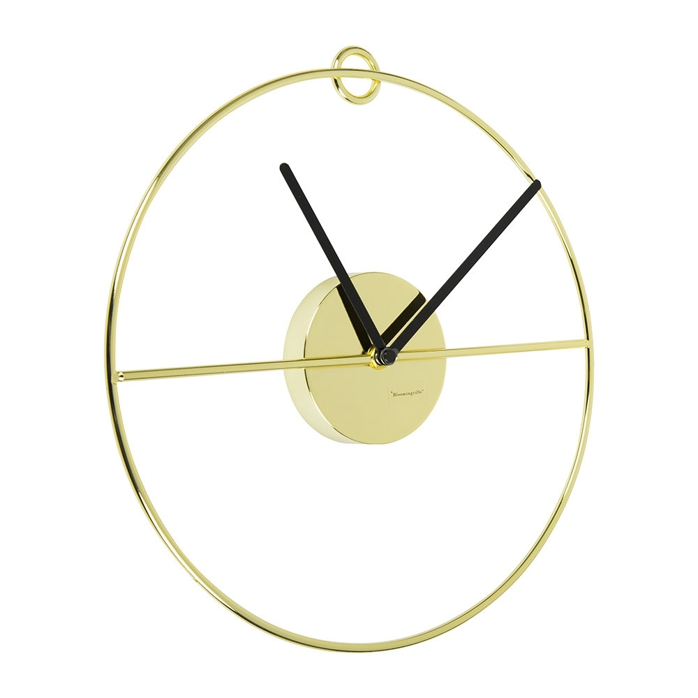 Buy Bloomingville Art Deco Wall Clock – Gold/black | Amara Within Recent Art Deco Wall Clock (View 12 of 20)