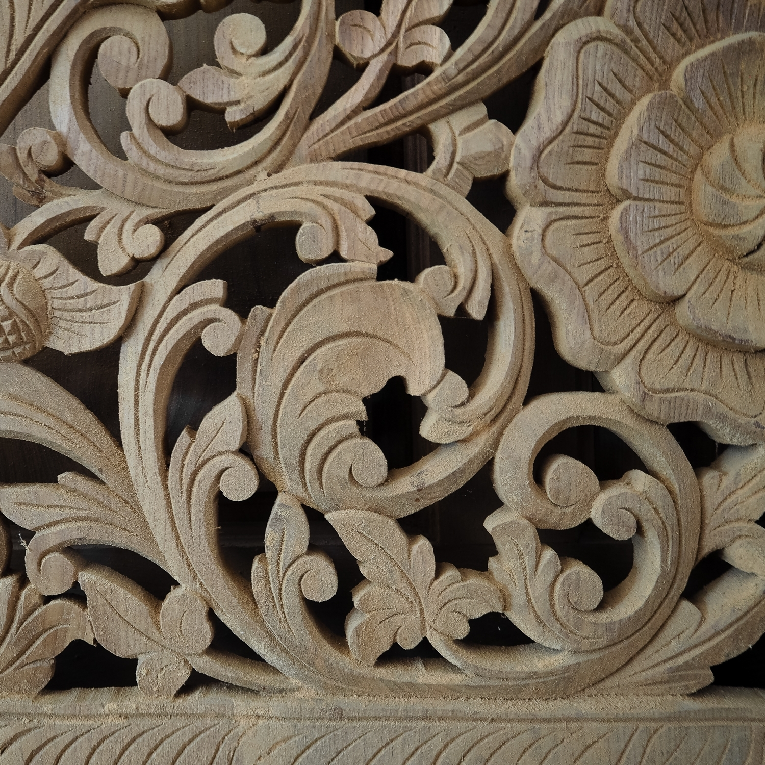 Buy Carved Bed Panel Oriental Wall Art Decor, Carved Wood Headboard With Most Recently Released Asian Wall Art (Gallery 9 of 15)