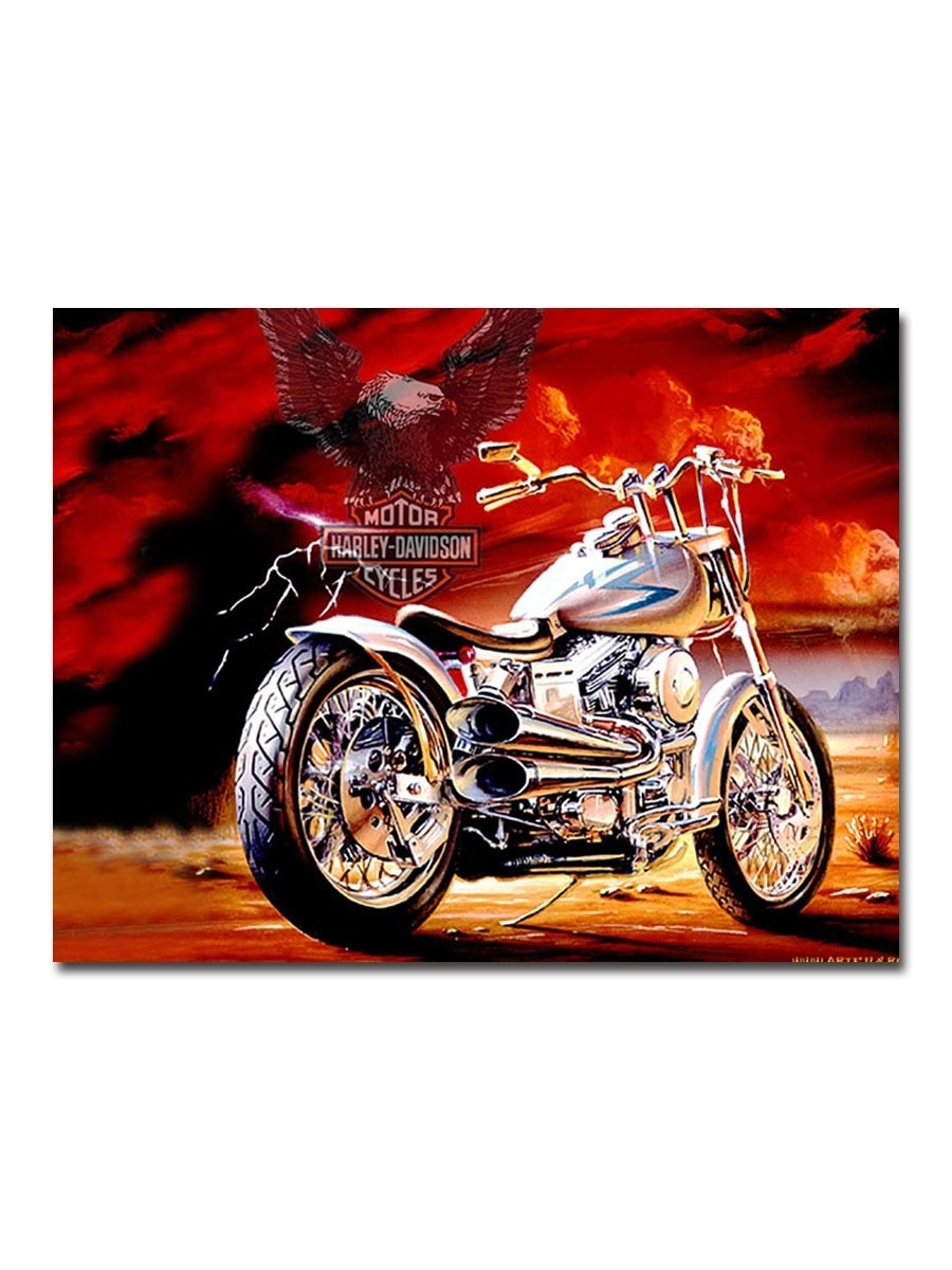 Buy Creative Painting Harley Davidson Motorcycle Hand Painted Unique Regarding 2017 Harley Davidson Wall Art (View 2 of 20)