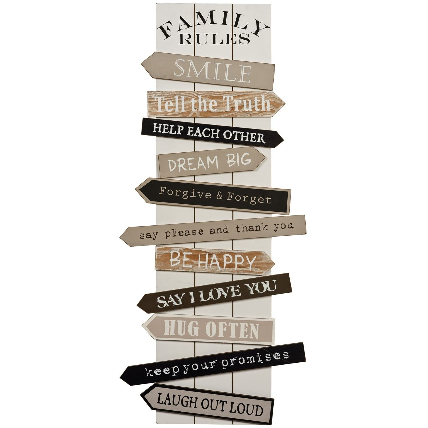 Buy Family Rules Wall Art | Wall Art | The Range | Decorations For With Most Up To Date Family Rules Wall Art (View 1 of 20)