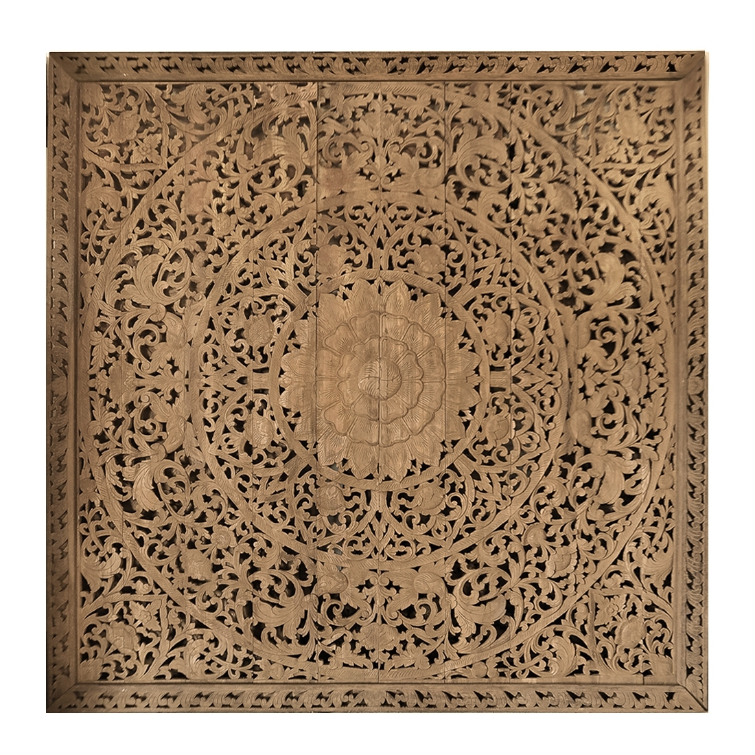 Buy Large Grand Carved Wooden Wall Art Or Ceiling Panel Online With Regard To Recent Wood Carved Wall Art (View 6 of 20)