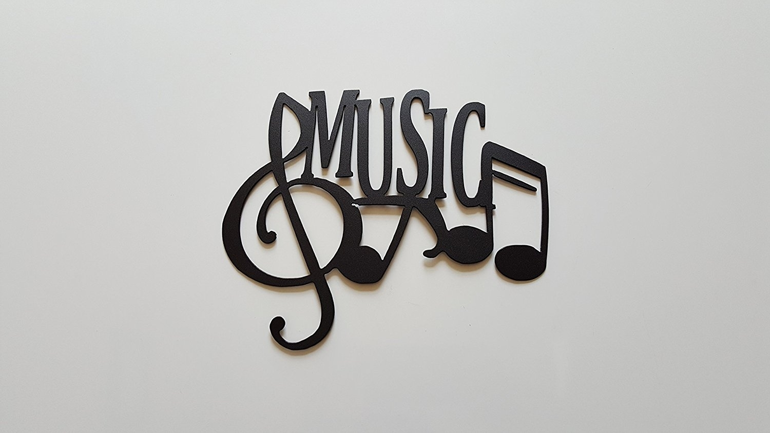 Buy Music Word And Music Notes Metal Wall Art Decor In Cheap Price Within Latest Music Wall Art (View 4 of 15)