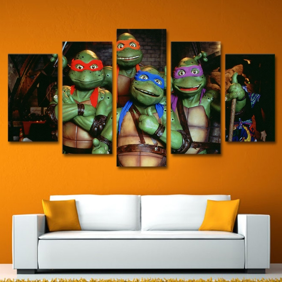 Buy Ninja Turtles Art And Get Free Shipping On Aliexpress Within Current Ninja Turtle Wall Art (View 5 of 20)
