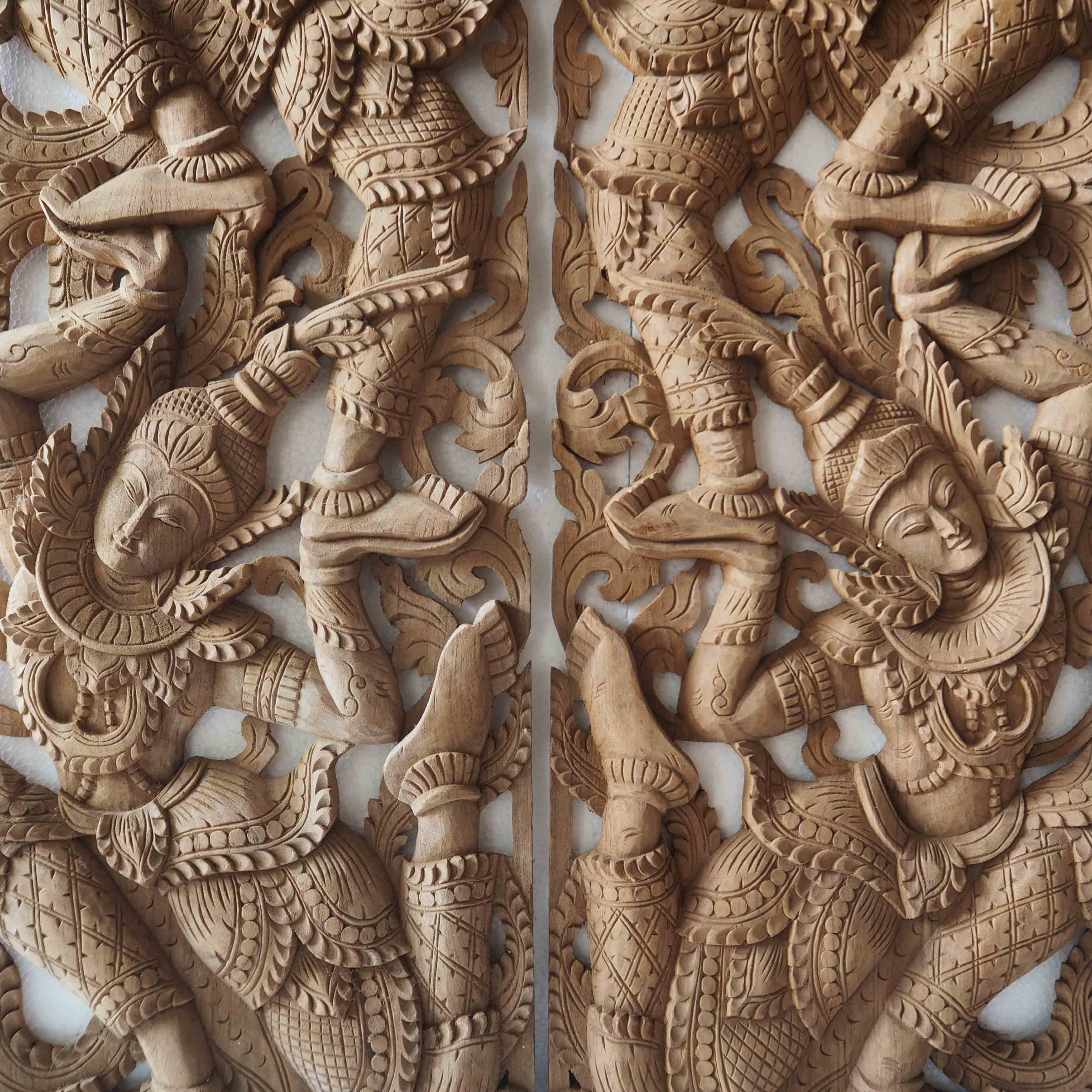 Buy Pair Of Wooden Wall Art Panel From Thailand Online Inside Best And Newest Wood Carved Wall Art (View 12 of 20)