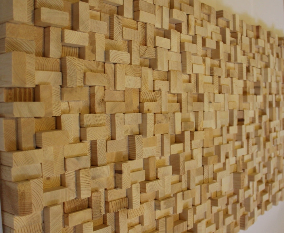 Buy Rustic Reclaimed Wood Wall Art, Wood Wall Sculpture, Abstract With Regard To Recent Wooden Wall Art (View 4 of 15)