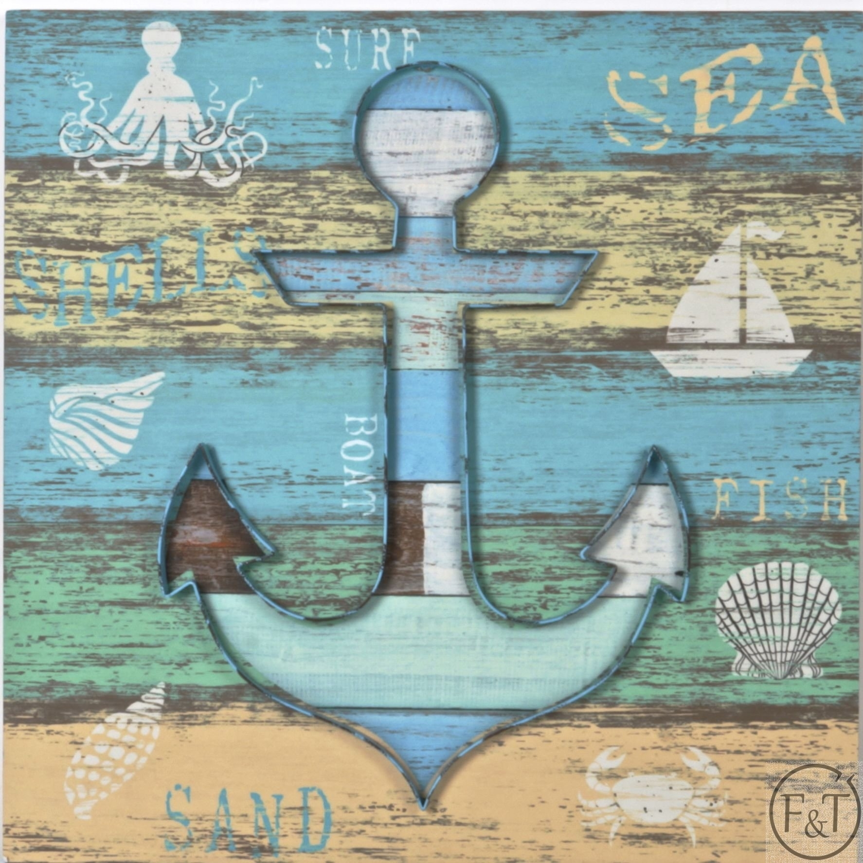 Buy Wood And Metal Anchor Wall Art Wholesale In Canada At Forpost For Latest Anchor Wall Art (View 8 of 20)