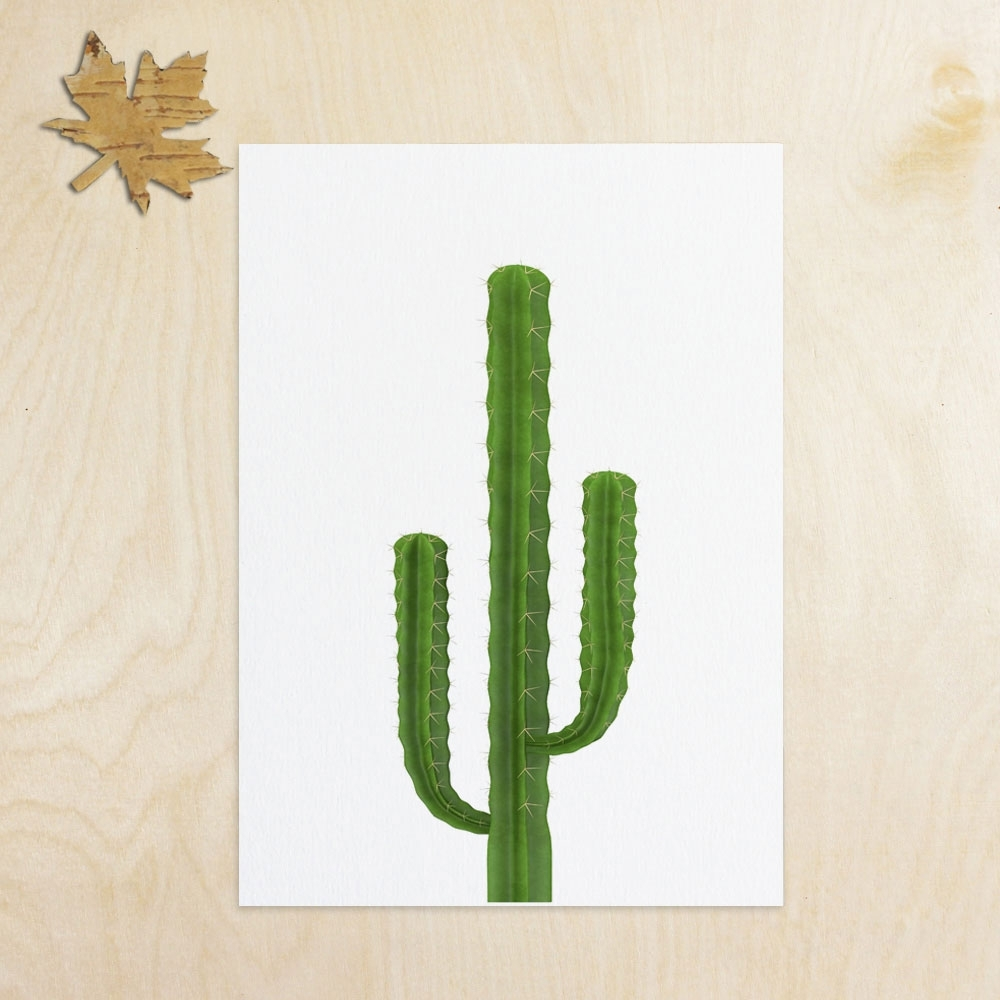 Cactus Inspiration Art Print Wall Art Flower Home Decor Cactus Art Throughout Best And Newest Cactus Wall Art (Gallery 13 of 20)