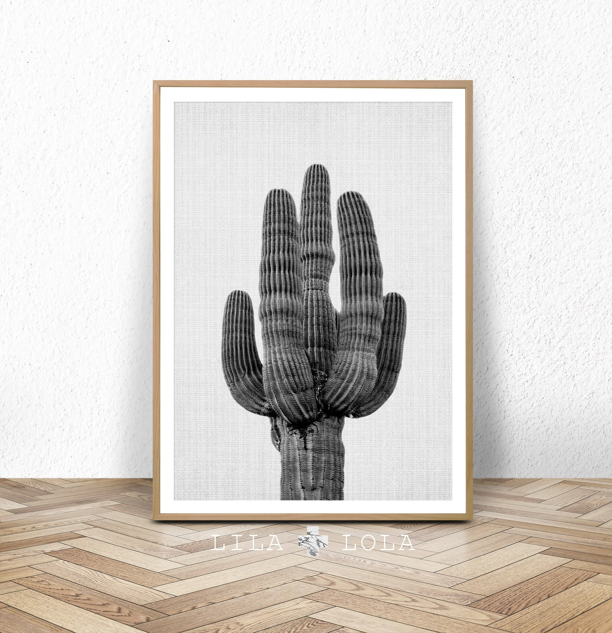 Cactus Print, Black And White Wall Art, Western Decor, Photography In Most Recent Cactus Wall Art (View 9 of 20)