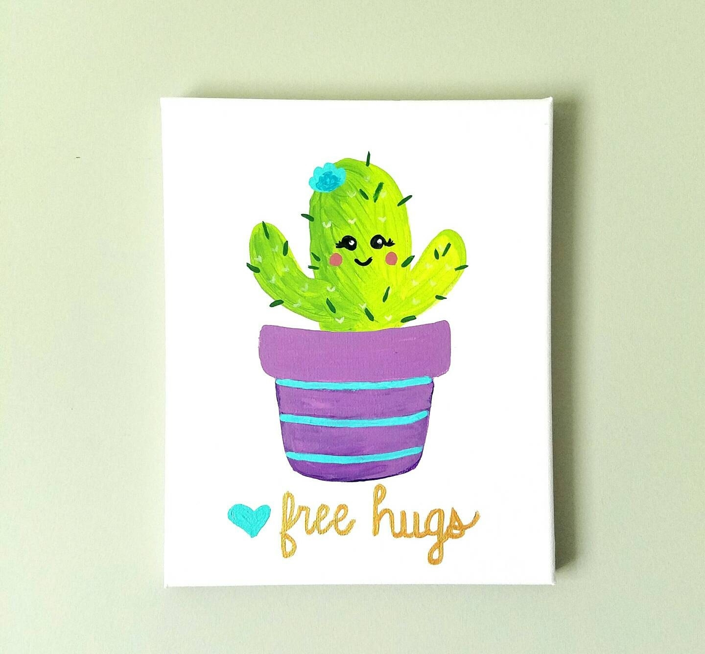 Cactus Wall Art Baby Girl Decor Girls Nursery Decor Baby | Etsy For Most Recent Cactus Wall Art (Gallery 2 of 20)