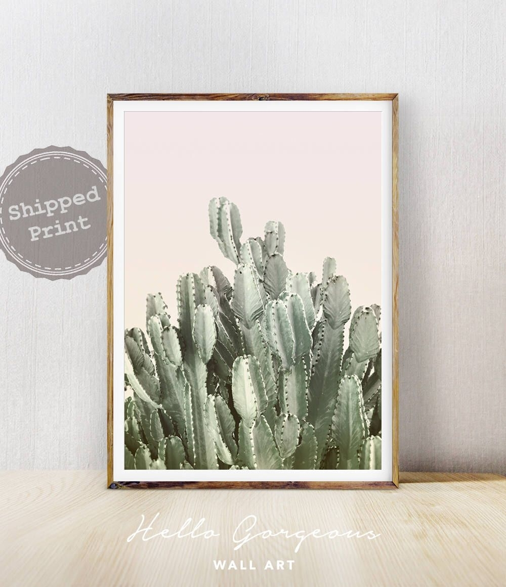 Cactus Wall Art, Cactus Print, Cactus Art, Desert Cactus Photo Inside Recent Cactus Wall Art (View 11 of 20)