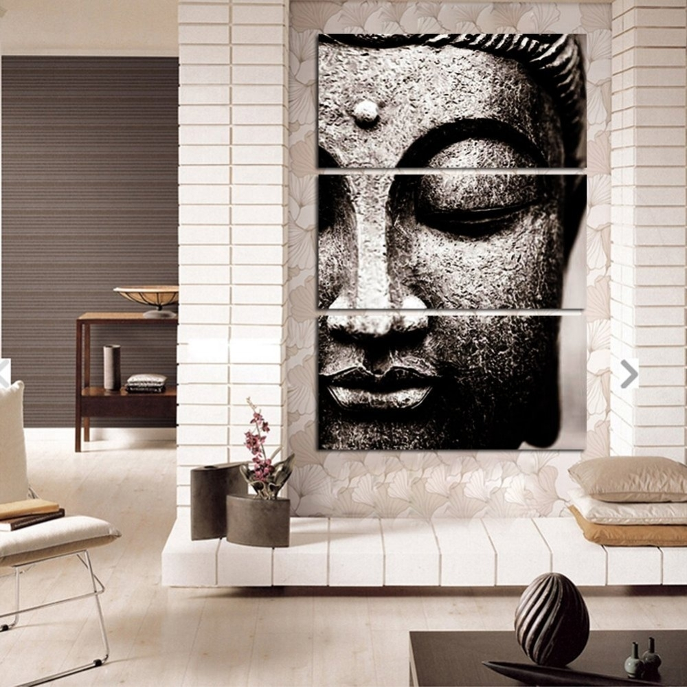 Canvas Pictures Modern Wall Art Framework For Living Room Decor 3 In Most Current Gray Canvas Wall Art (Gallery 19 of 20)