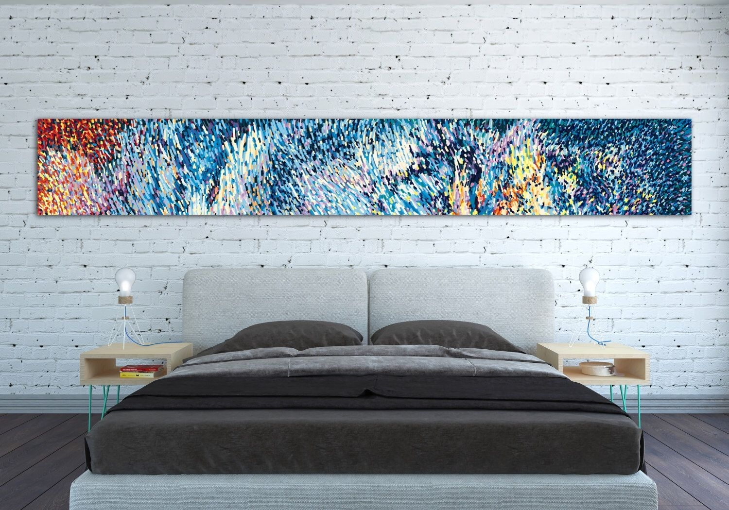 Canvas Print Horizontal Extra Long Horizontal Large Abstract With Current Long Canvas Wall Art (View 1 of 20)