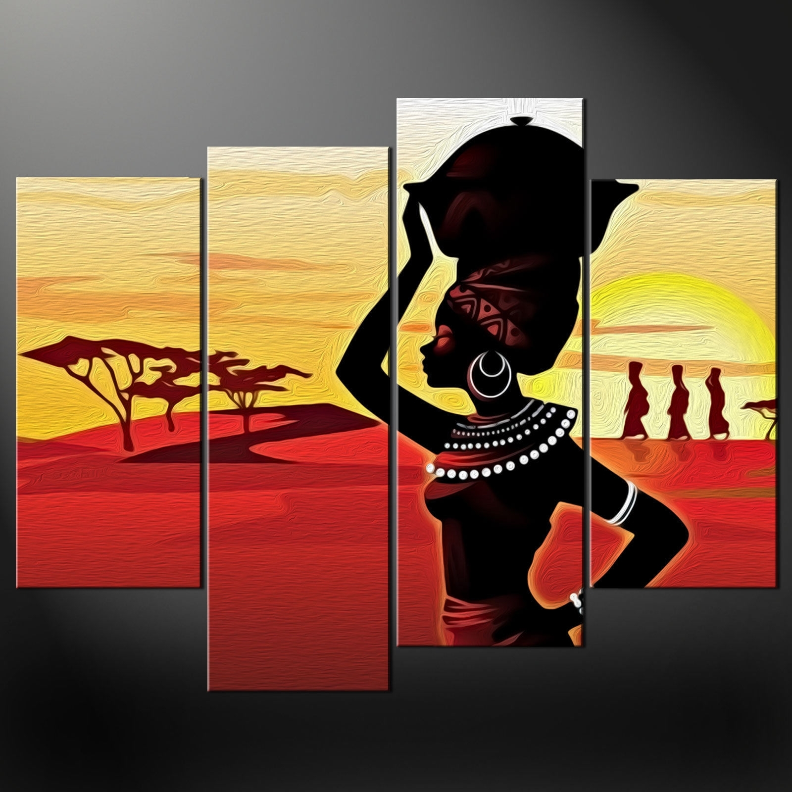 Canvas Print Picture Wall Art With Recent African Wall Art (Gallery 4 of 15)