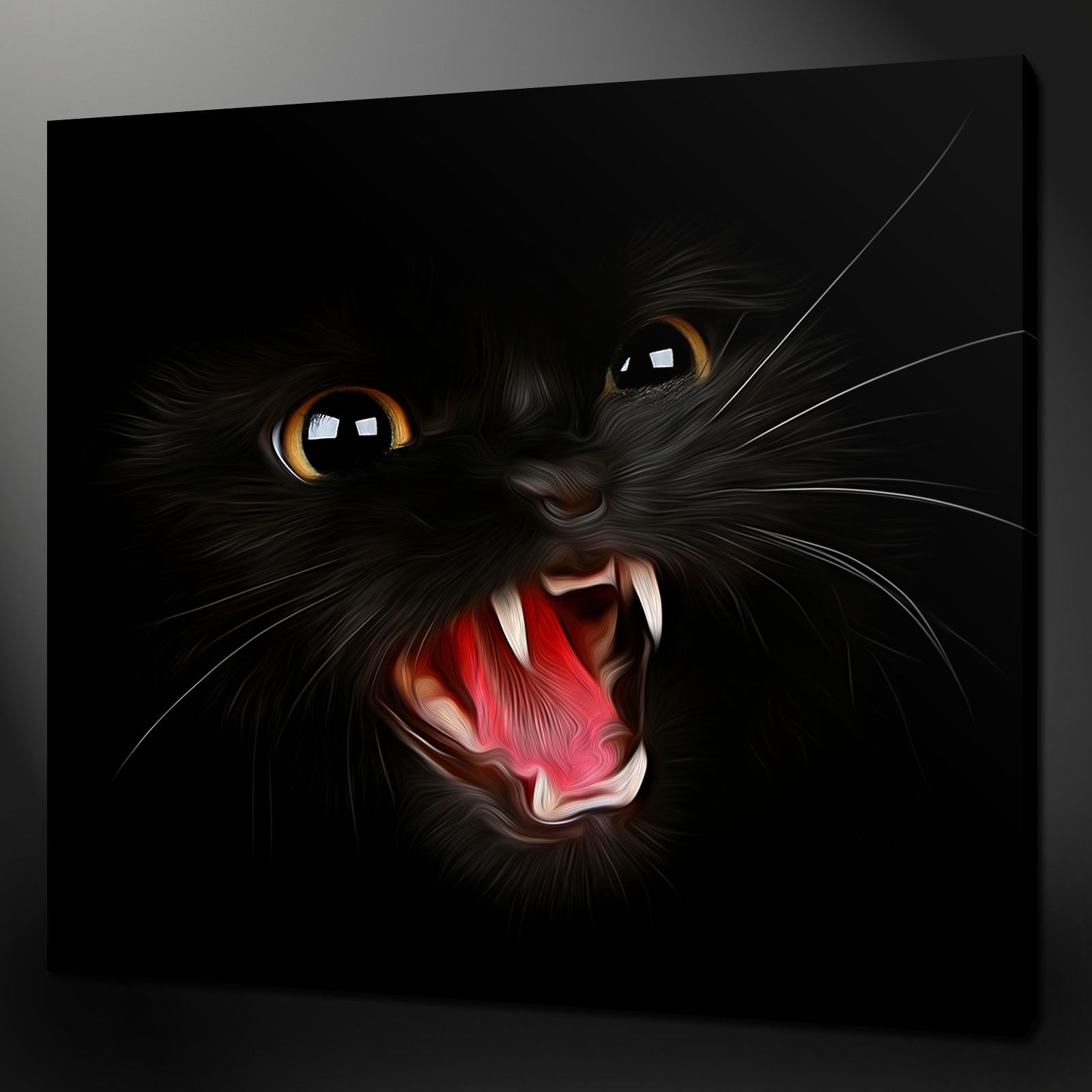 Canvas Print Pictures. High Quality, Handmade, Free Next Day Delivery. With Regard To Most Recent Cat Canvas Wall Art (Gallery 8 of 20)