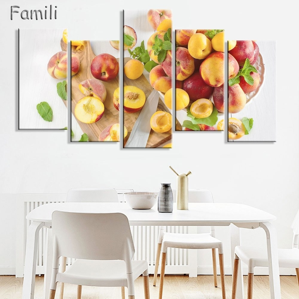 Canvas Prints Pictures Kitchen & Restaurant Wall Art Frameless 5 Within Recent Lemon Wall Art (View 6 of 20)