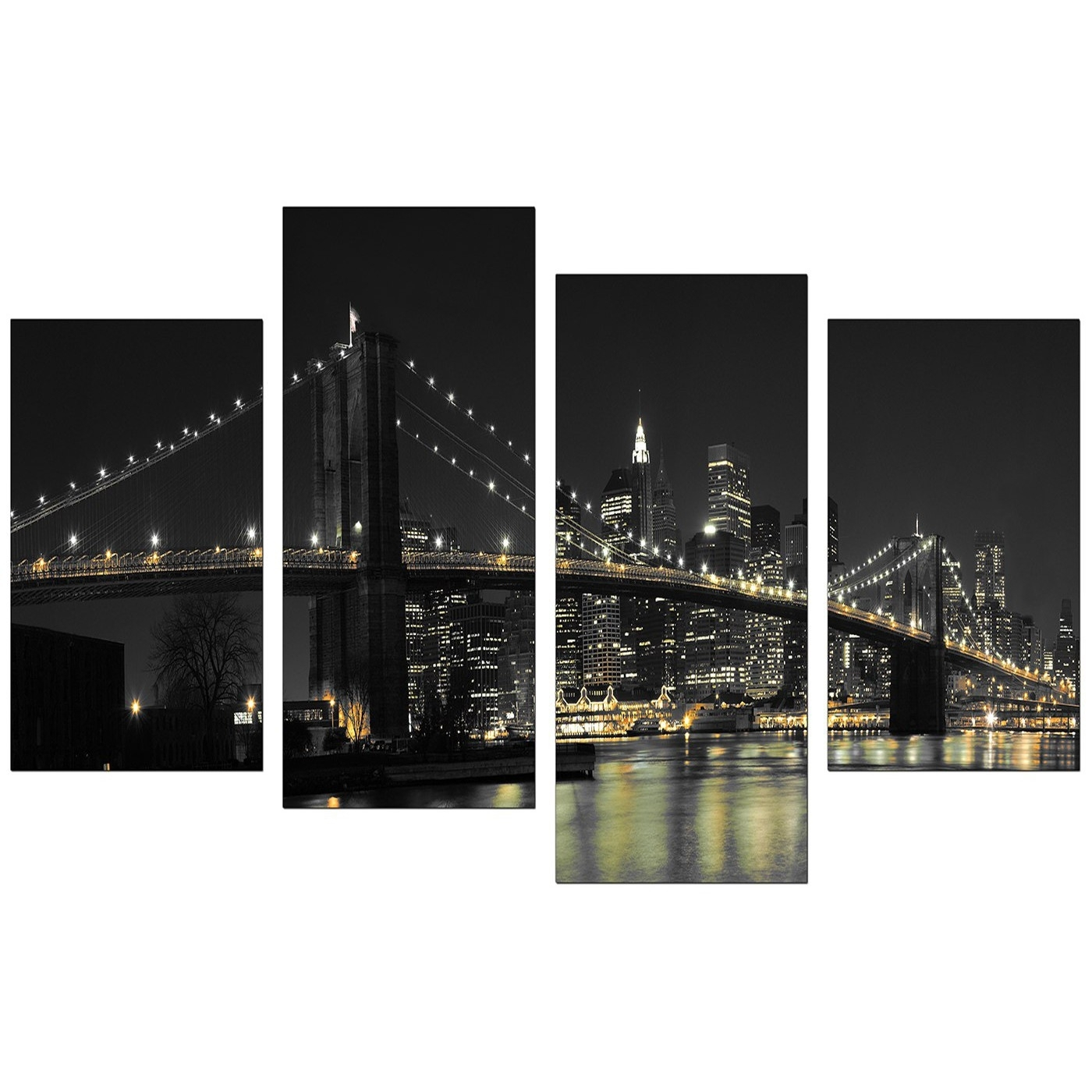 Canvas Wall Art Of New York For Your Office – 4 Part Inside Most Current New York Canvas Wall Art (View 7 of 15)