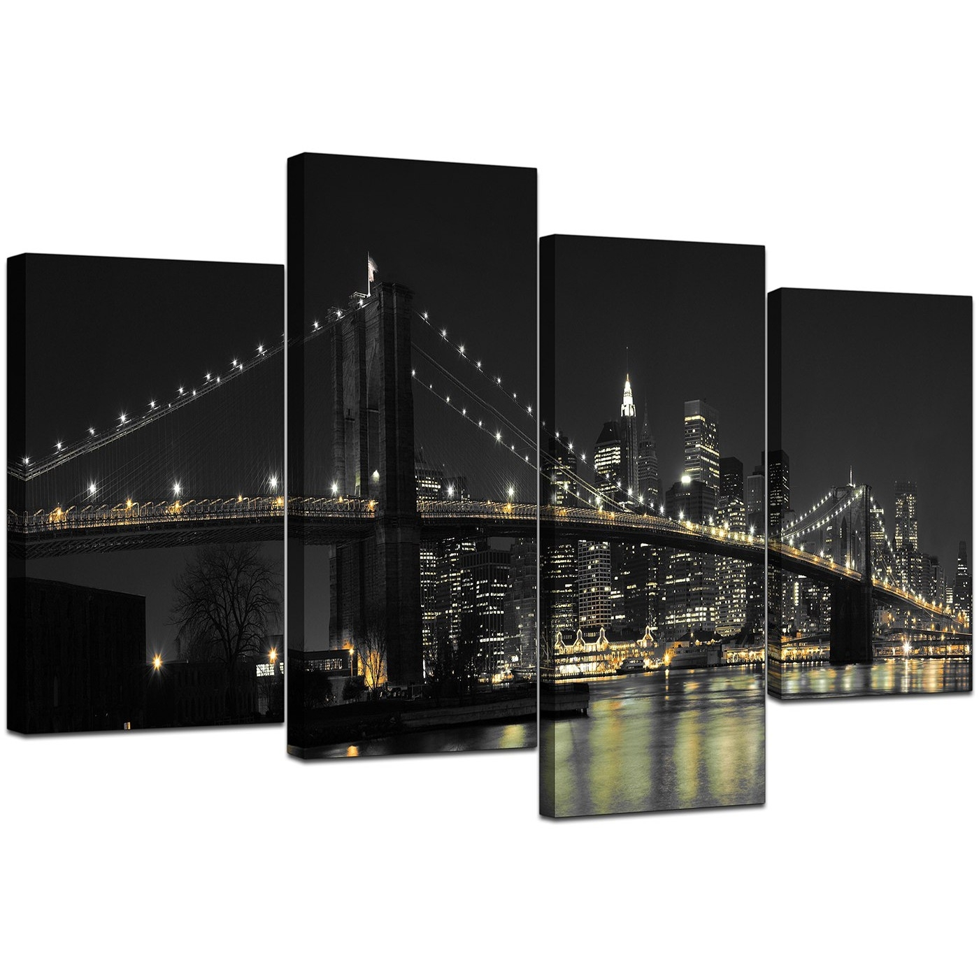 Canvas Wall Art Of New York For Your Office – 4 Part Pertaining To Newest New York Wall Art (Gallery 6 of 20)