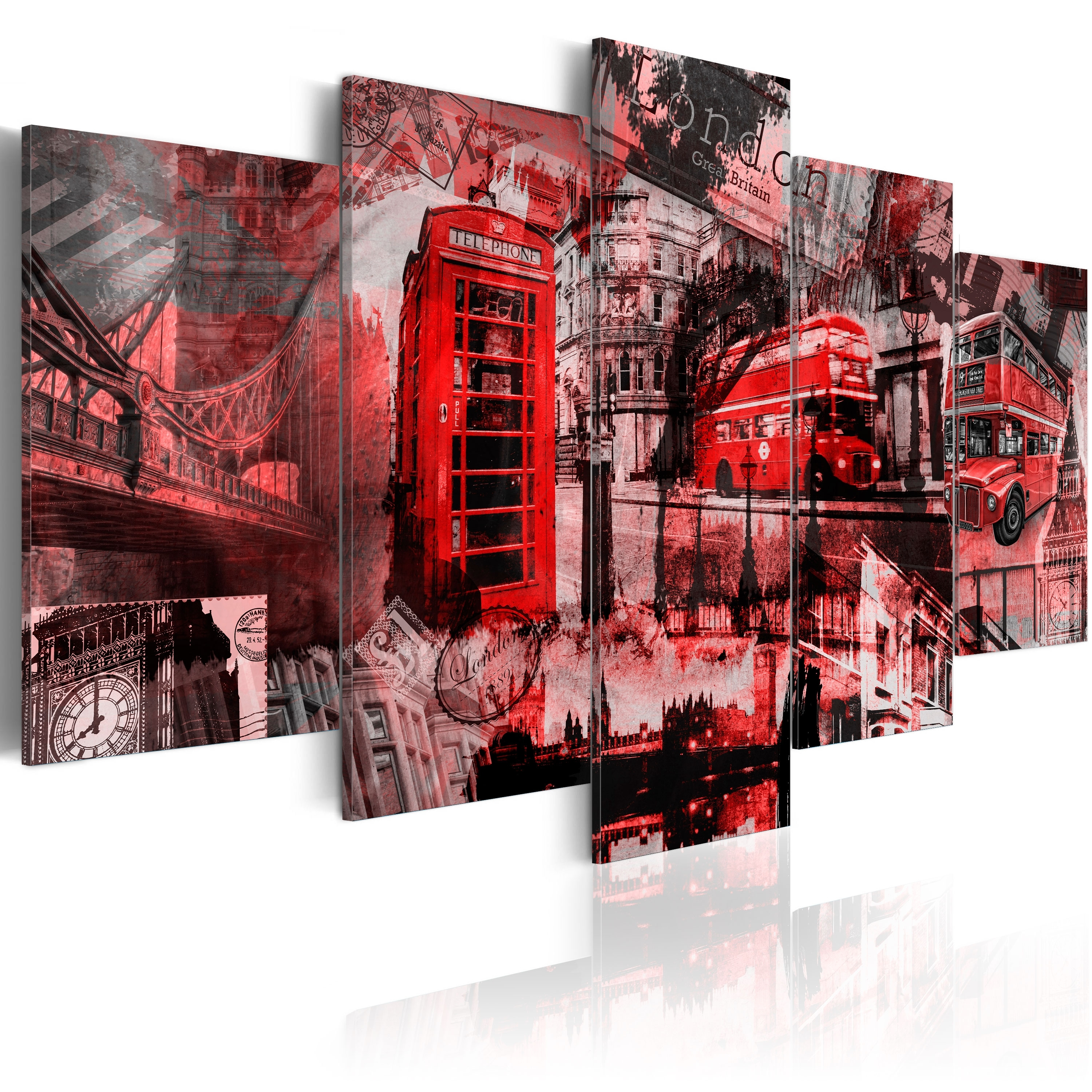 Canvas Wall Art Print Image Picture Photo London 030117 5 | Ebay Throughout 2018 London Wall Art (View 4 of 20)