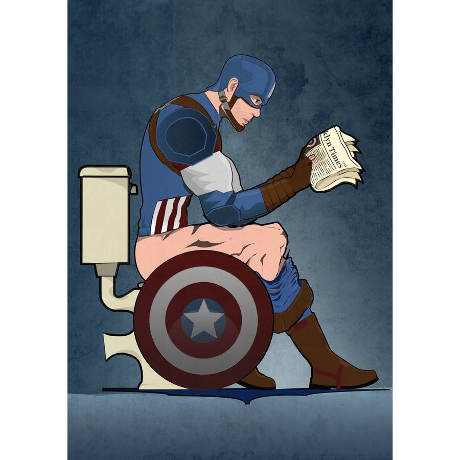 Featured Photo of Captain America Wall Art