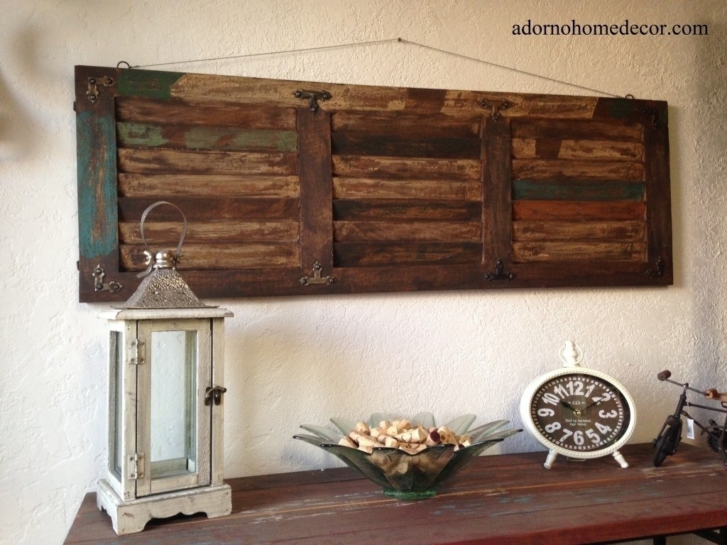 Captivating Bathroom Vintage Wall Decor Etsy 20 Rustic Wall Decor For Recent Rustic Wall Art (View 15 of 15)