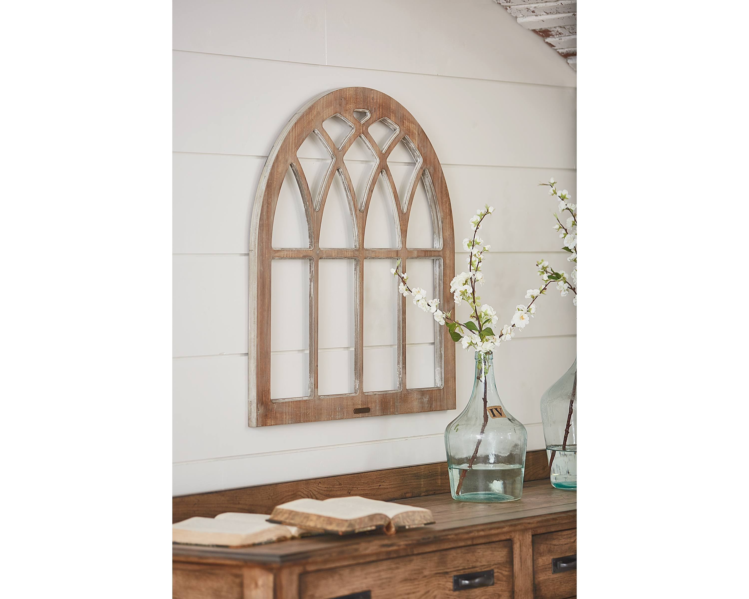Cathedral Window Frame Wall Decor – Magnolia Home Intended For Current Window Frame Wall Art (Gallery 7 of 15)