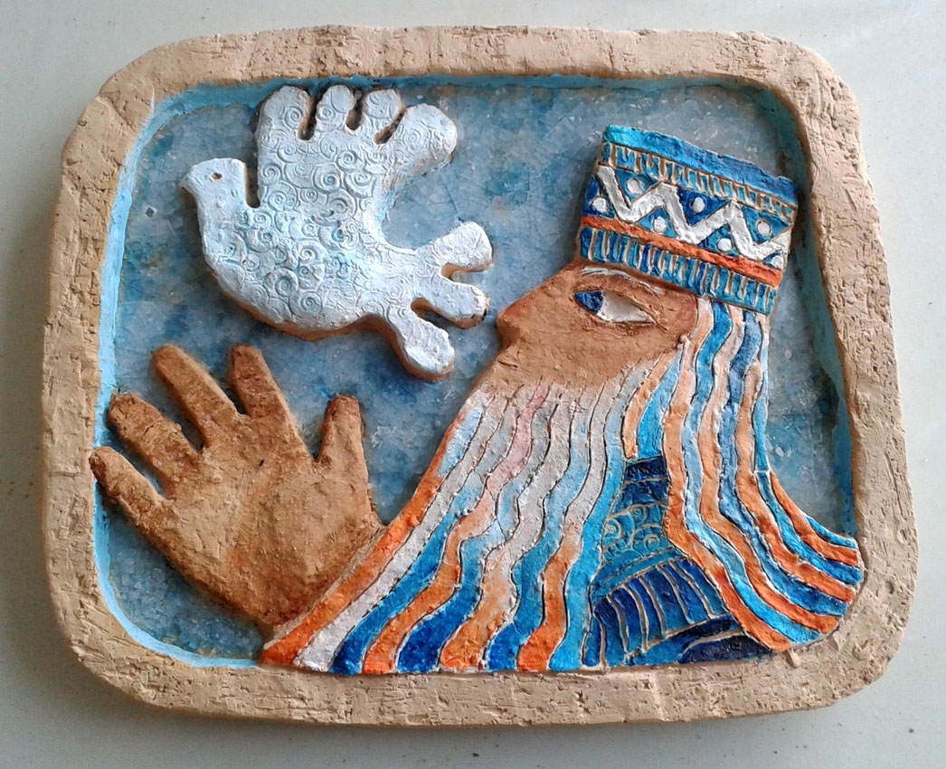Ceramic Wall Art, Figurative, Old Testament, Bas Relief Sculpture Intended For Most Popular Ceramic Wall Art (View 8 of 20)