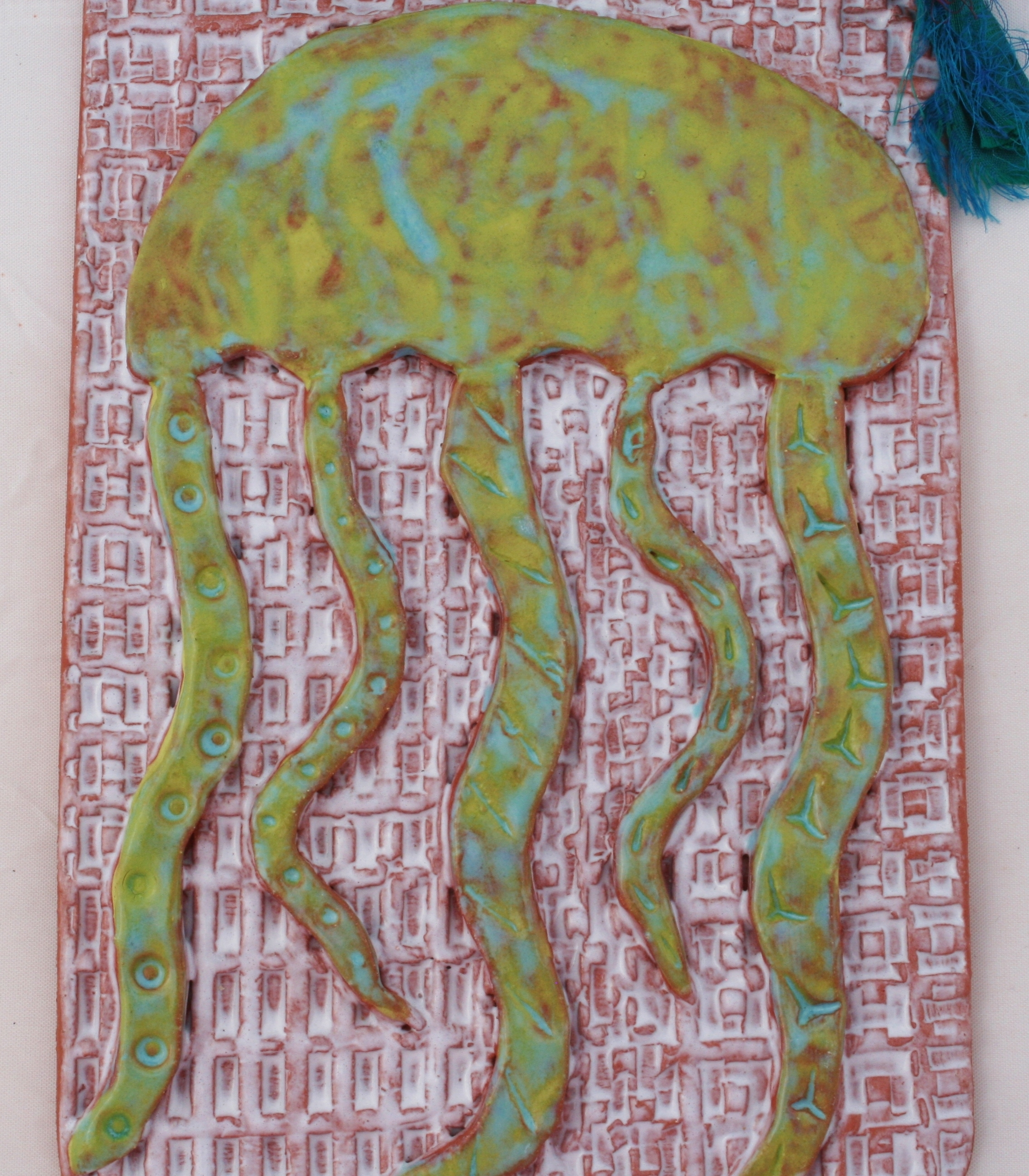 Ceramic Wall Art Tile Jellyfish Intended For Most Recently Released Ceramic Wall Art (View 6 of 20)