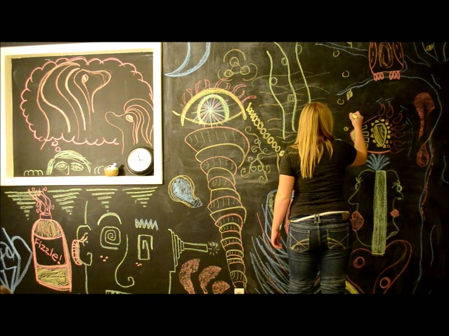 Chalkboard Wall Art – Youtube Within Most Current Chalkboard Wall Art (View 6 of 20)