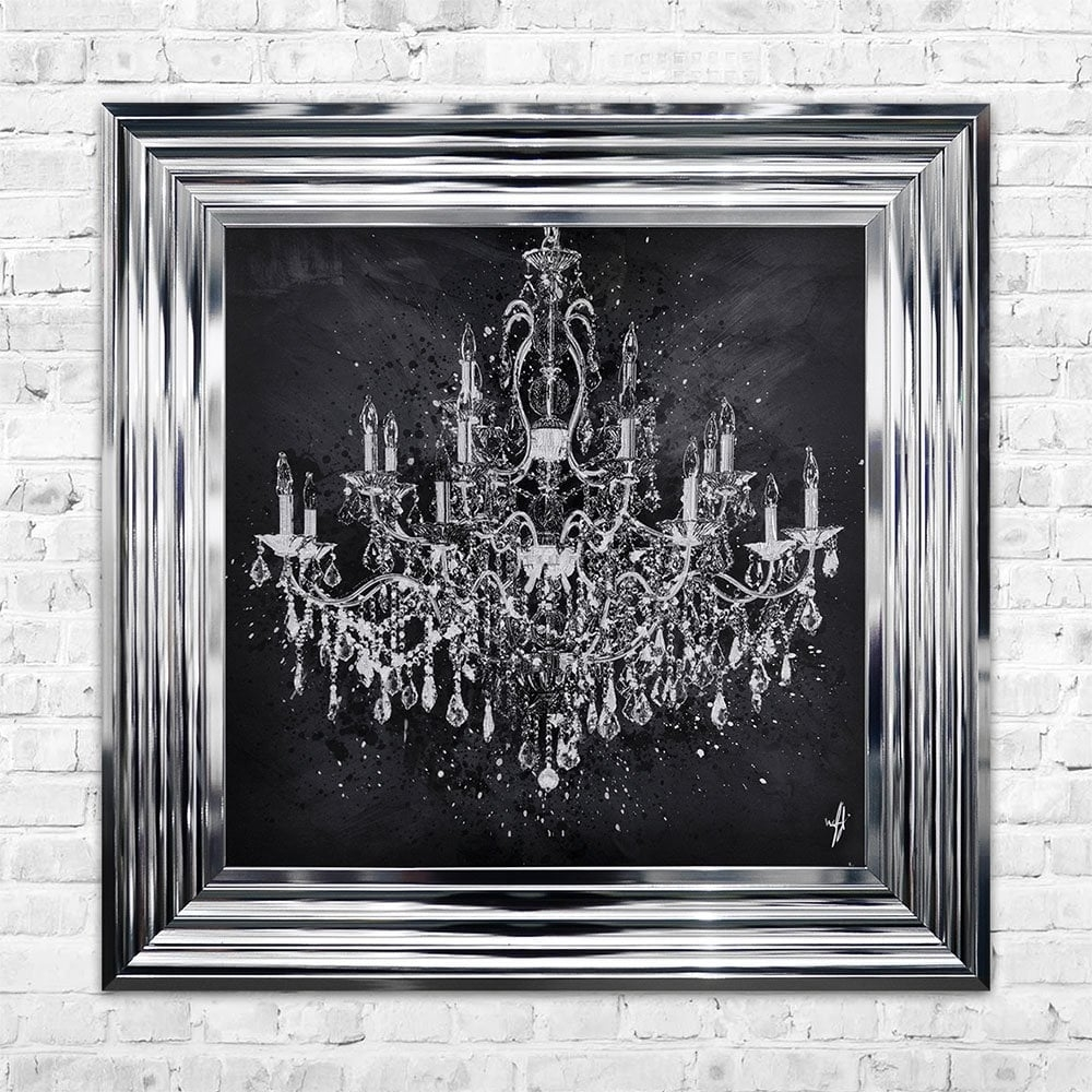 Chandelier Wall Art | 55cm X 55cm Throughout Most Current Chandelier Wall Art (View 9 of 20)