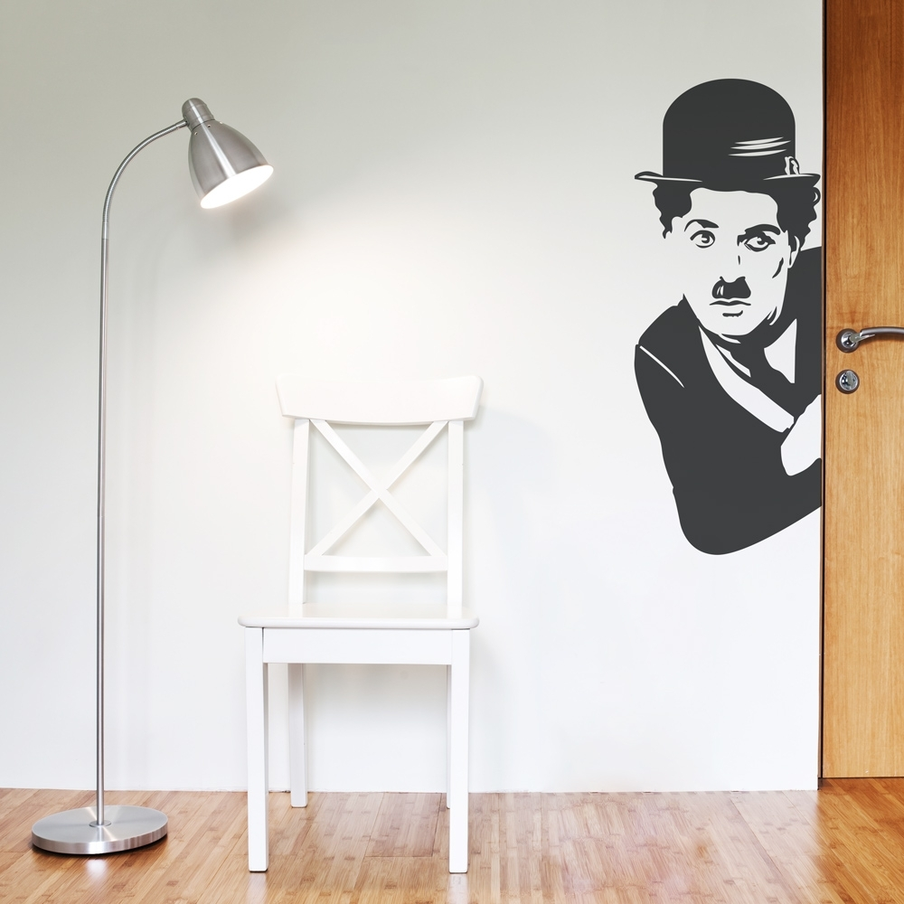 Charlie Chaplin Wall Art Decal Within Most Popular Corner Wall Art (View 4 of 20)