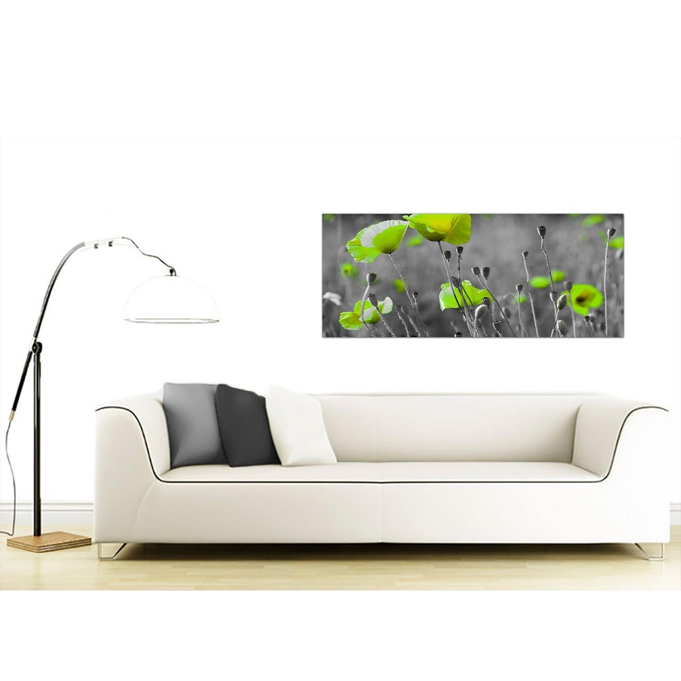Cheap Black And White Canvas Wall Art Of Green Poppies Pertaining To Latest Cheap Large Wall Art (Gallery 20 of 20)