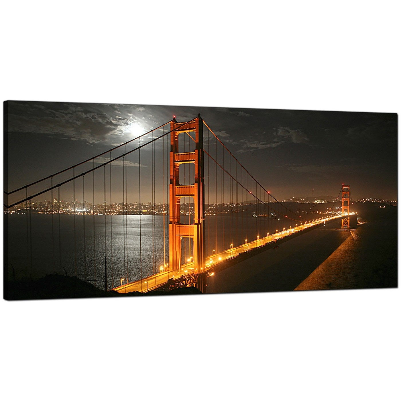 Cheap Canvas Prints Of Night Time San Francisco For Your Dining Room Intended For Most Recent San Francisco Wall Art (Gallery 15 of 20)