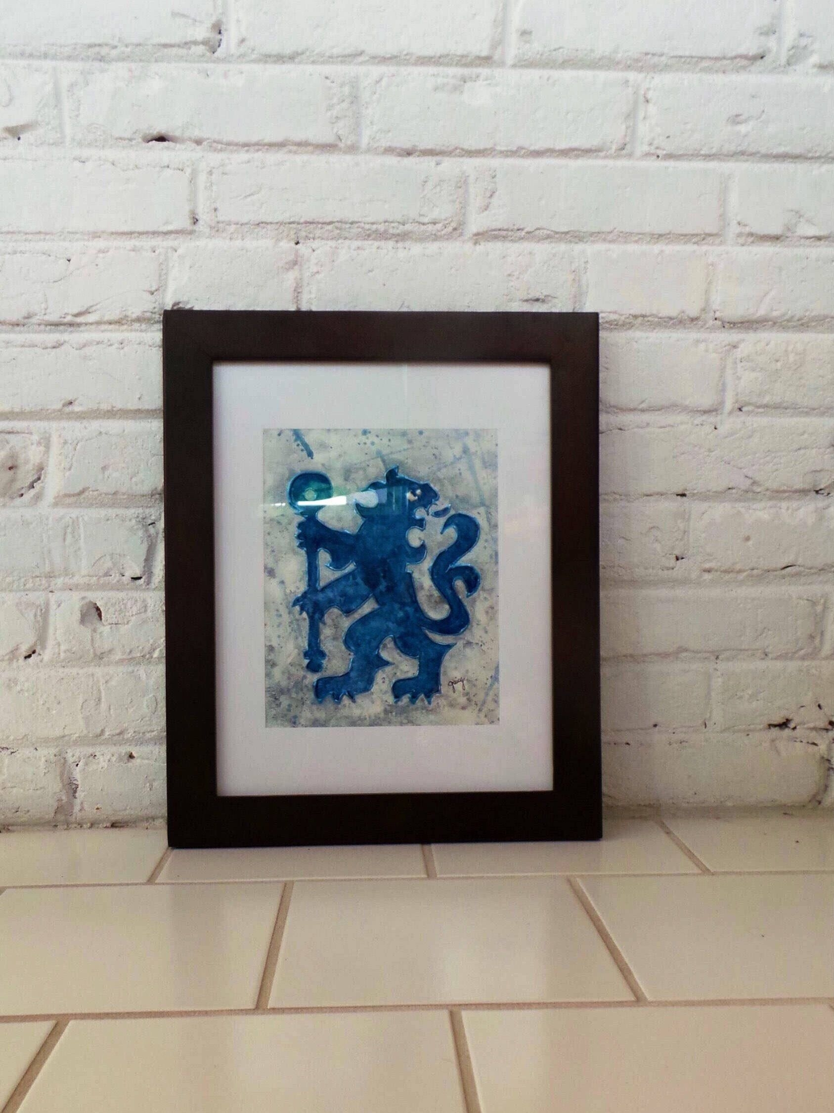 Chelsea Fc Art, Soccer Wall Art, Soccer Fan Gift, Gift For Him With Most Up To Date Soccer Wall Art (Gallery 10 of 20)