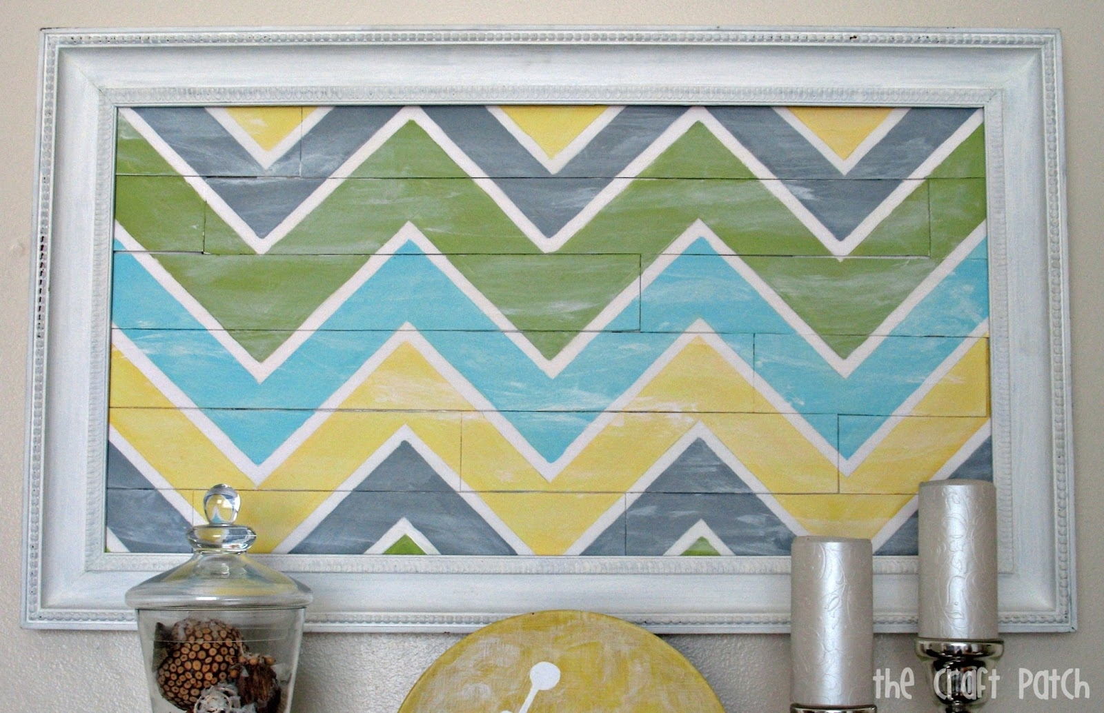 "Chevron ""pallet"" Wall Art – Thecraftpatchblog With Most Popular Chevron Wall Art (View 10 of 20)"