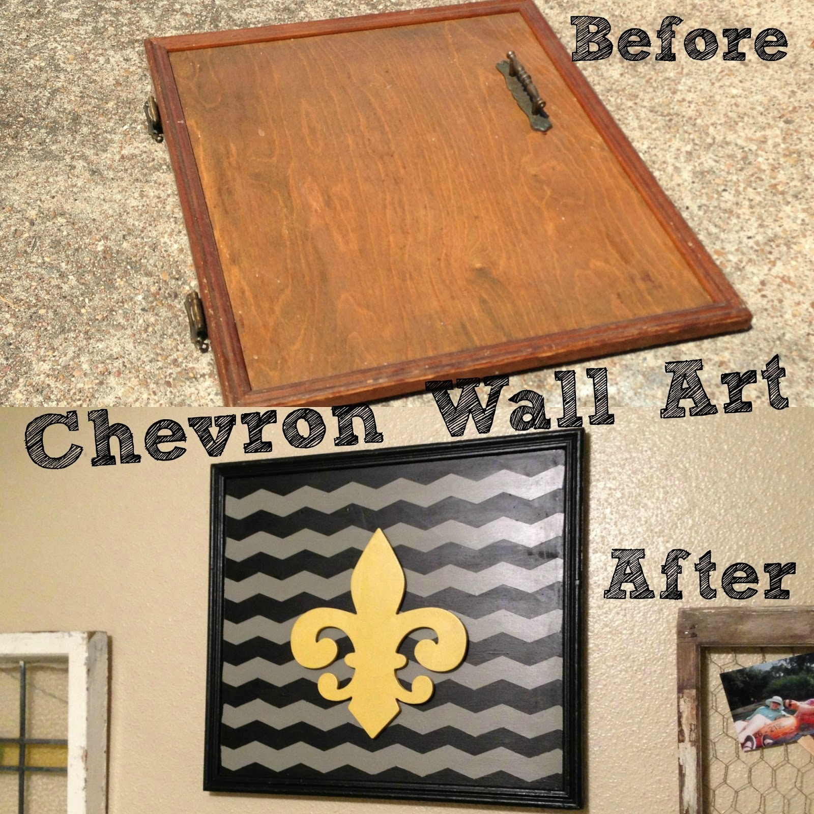 Chevron Wall Art – Craft Dictator For 2017 Chevron Wall Art (View 6 of 20)