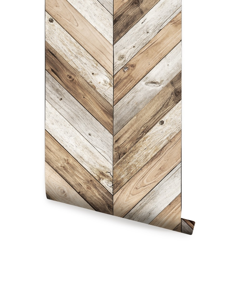 Chevron Wood Herringbone Wallpaper – Peel And Stick, Chevron Wall In 2018 Chevron Wall Art (View 17 of 20)