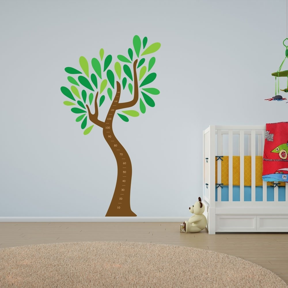 Child's Growth Chart Tree Vinyl Wall Art | Vinyl Revolution Regarding Best And Newest Tree Wall Art (View 4 of 15)