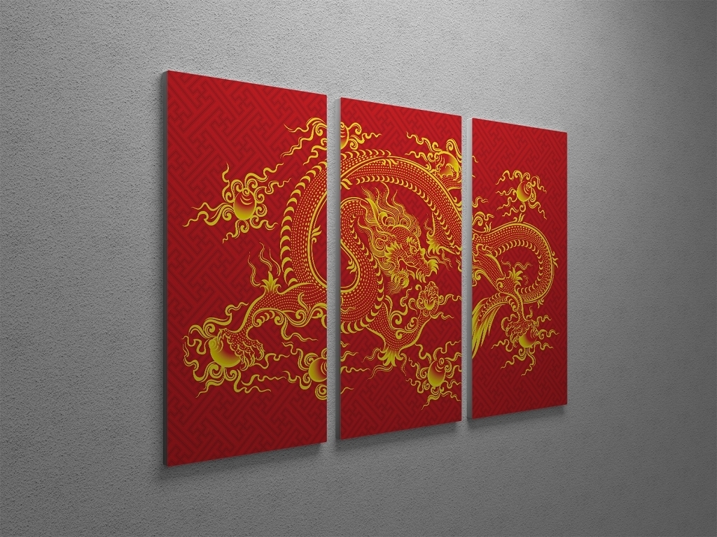 Chinese Dragon Canvas Wall Art Intended For Most Current Chinese Wall Art (View 8 of 20)