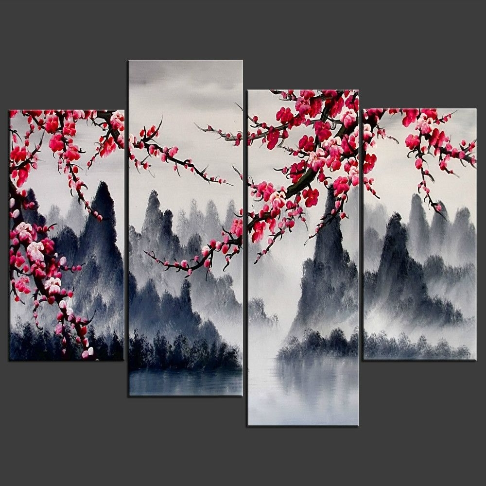 Chinese Wall Art Painting Simple Chinese Wall Art Combination Multi Intended For Most Recent Chinese Wall Art (View 12 of 20)