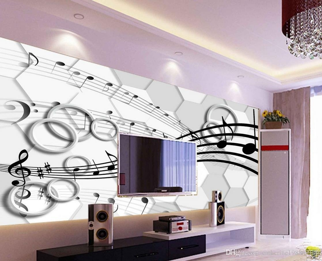 Classic Home Decor 3d Stereo Three Dimensional Note Circle Tv Wall Pertaining To Most Current 3 Dimensional Wall Art (View 13 of 20)